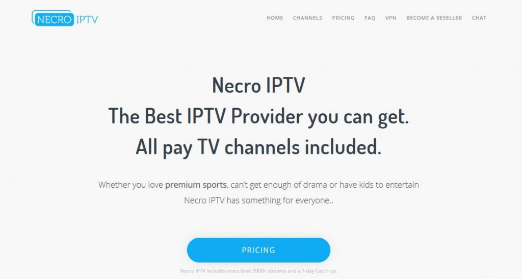 Necro IPTV The Best IPTV Provider you can get. All pay TV channels included